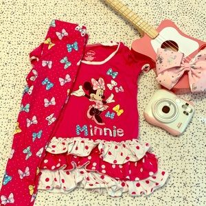 Disney little girls XS (4) Minnie outfit